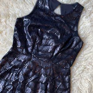 Black Sequin Party Holiday Dress Sz 6